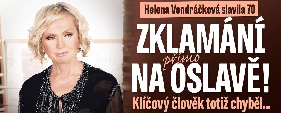 Helena Vondráčková slavila 70: Zklamání přímo na oslavě! Chyběl klíčový člověk