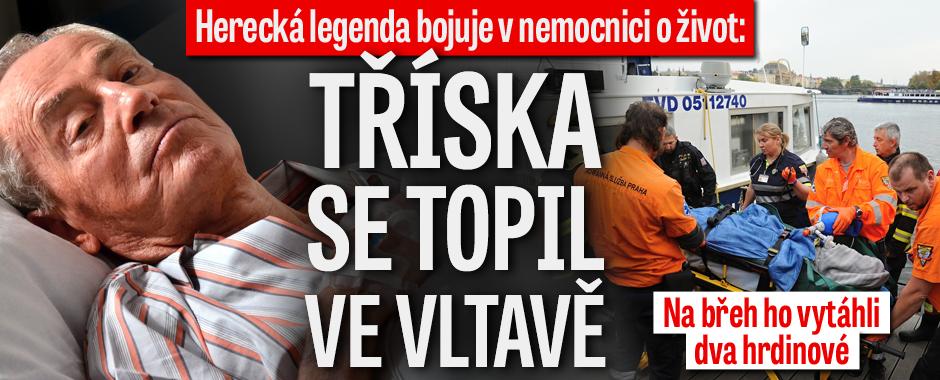 Jan Tříska (80) bojuje na ARO o život! Topil se ve Vltavě!
