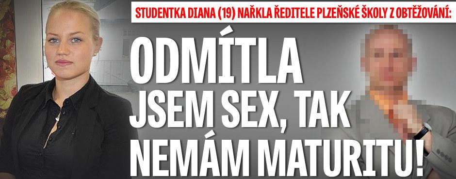 Studentka Diana (19) nařkla ředitele plzeňské školy z obtěžování