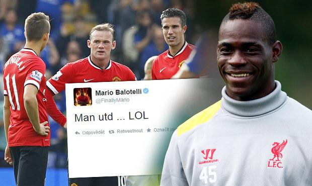 LOL! United se po prohře 3:5 vysmíval Balotelli, rasisticky ho urážejí