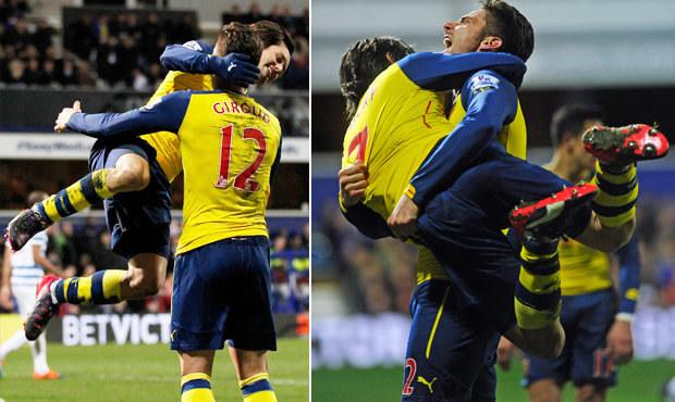 Vášnivá oslava Arsenalu! Rosický visel na střelci jako kytara