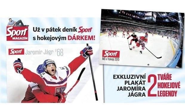 DÁREK: Jágrův megaplakát v pátečním magazínu Sportu