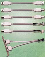 USB kabely - typ kabelu určují konektory