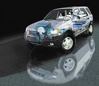 Ford Maverick by se měl stát prvním sportovně užitkovým automobilem s hybridním pohonem. Jeho výroba je plánována na rok 2003. Díky pomocnému elek-tromotoru by se spotřeba tohoto velkého auta měla dostat pod 6 litrů na sto kilometrů