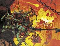 Vojsko Pána Nazg^ulů dobývá opevnění Minas Tirith