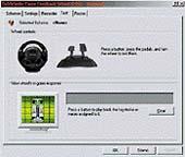 Software, kontrolující nastavení volantu
