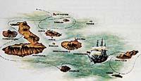 Galapágy , místo, kde Darwin sbíral důkazy pro své teorie