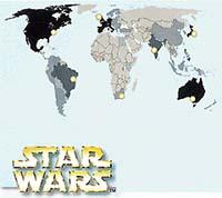 Počty uvedení trilogie Hvězdných válek v roce 1997