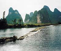 Krajina na přítocích řeky Li