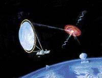 Futuristický obrázek z budoucnosti - tak si někteří vědci představují čerpání energie z černé díry