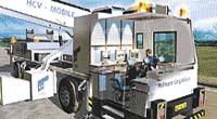 Rentgenová jednotka HCV Mobile na prohlížení kamionů