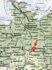 mapa - Wolfsburg