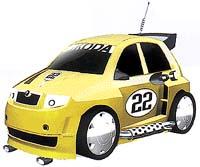 Výsledek naší designérské práce - Škoda Fabia Sporťák. Jestli se vám nelíbí, můžete si v Autostadtu navrhnout vlastní auto