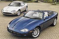 Elegantní sportovní automobily řady XK navazují na tradici krásných a rychlých vozů značky Jaguar