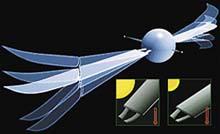 Křídla Kea se zvedají a sklápějí díky kovům, z nichž jsou vyrobeny jejich závěsy. Ty se při ohřátí zvednou nahoru a při vychladnutí opět spustí dolů