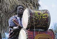 Při slavnostním otevírání Afrického domu a pavilonu goril nemohli chybět ani afričtí muzikanti