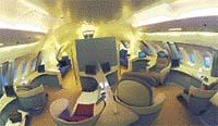 V kabině letadla A-380 nebude chybět salonek