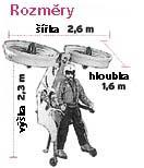 šířka 2,6 m;   výška 2,3 m;   hloubka 1,6 m