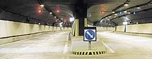 Vjezd do jižního portálu tunelu