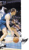 Jiří Zídek ml. v době, kdy působil v týmu NBA Charlotte Hornets