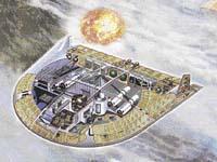 nádrž na kyslík; pozice rakety připravené k odpálení; raketové motory; malá atomová elektrárna; mechanismus ovládání křídel; nádrž na helium; rakety s atomovými hlavicemi; přetlaková komora; stanoviště ovládání zbraní   ...