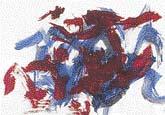 Abstraktní obrazy namalované slony lidé nadšeně kupují