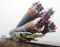 Transport rakety po železnici