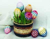Velikonoční vajíčka v síťce
