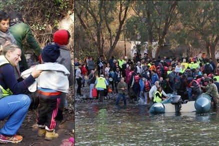 """Češky zachránily uprchlická batolata: Když je klid, připluje """"jen"""" 20 člunů"""