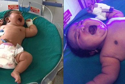 V Indii se narodil pořádný cvalík: Žena přivedla na svět sedmikilové dítě!