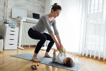 5 cviků, které vás zbaví těhotenského bříška! Stačí pět minut denně
