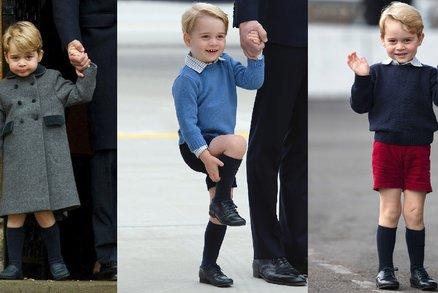 Kdy konečně bude princ George smět nosit dlouhé kalhoty? Ještě si počká!