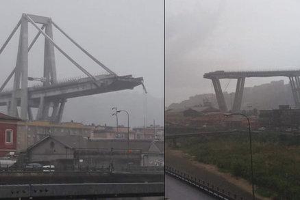 Italská apokalypsa: Nejméně 35 mrtvých po zhroucení mostu, mezi zraněnými je i Čech