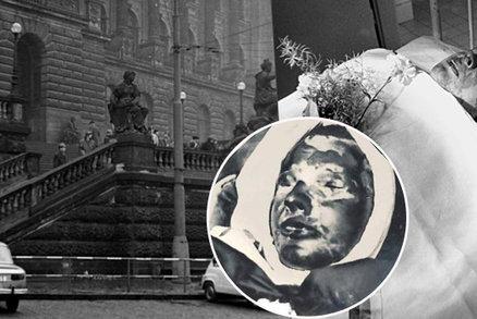 Před 52 lety zemřel Jan Palach: Spálené oči i rty, popáleniny měl tak hluboké, že místy necítil bolest