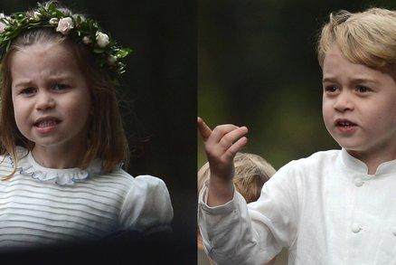 Charlotte a George na svatbě! Na nevěstu se nikdo moc nedíval