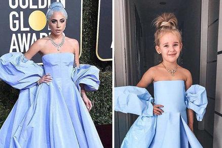 Pětiletá Stefani v modelech z červeného koberce! Sluší to víc jí, nebo celebritám?