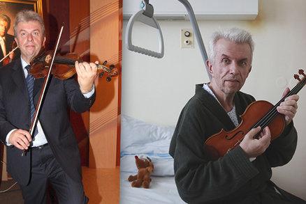 První foto houslisty Svěceného po těžké operaci! Problémy spustil rozvod, přiznal