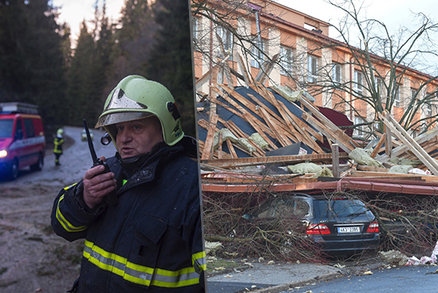 V Česku řádí orkán Eberhard, hrozí bílá tma. E.ON hlásí kalamitu, finančáku uletěla střecha