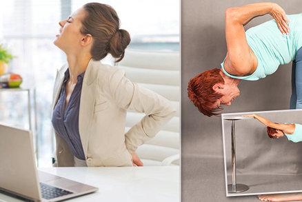 Musíte dlouho stát nebo sedět? Naučte se jediný cvik, který vám zachrání nejen záda!