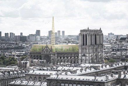 Geniální, nebo šílené? Designéři navrhli proměnit střechu Notre-Dame ve skleník