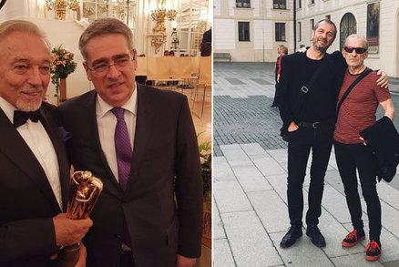 Gott převzal cenu Trebbia: Na Hrad si pořídil nový smoking!