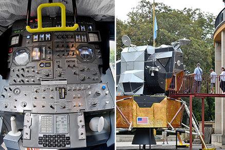 Apollo 11 přistálo ve Stromovce. K vidění je replika přistávacího modulu a k osahání kusy Měsíce