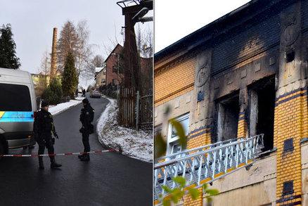 Příčina požáru ve Vejprtech, který zabil 8 lidí: Gauč zapálili tři klienti!? Schovali je do léčebny