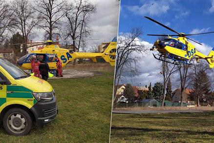 Opařené miminko na Pardubicku: Letěl pro něj vrtulník