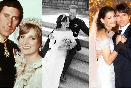 Nejdražší svatby slavných: Za kolik se vdávala Diana, Meghan nebo Katie?