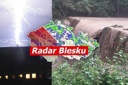 Lijáky vytopily domy, bouřky v Česku zůstanou. Na jihu a Moravě hrozí záplavy, sledujte radar Blesku