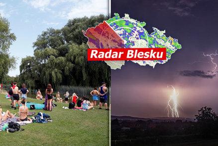 Třicítky napříč Českem. Přijdou však silné bouřky a kroupy, sledujte radar Blesku