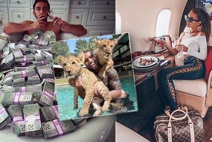 Takhle provokují zbohatlíci: Stohy peněz, sídla, jachty i posluhování z vrtulníku