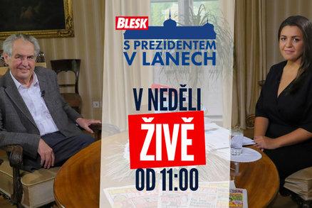 Miloš Zeman ŽIVĚ pro Blesk: O volbách, koronaviru i 28. říjnu. Položíme i vaše dotazy