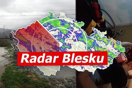 """Lijáky a povodně ONLINE: """"Je to horší než v létě,"""" běduje starostka. Sledujte radar Blesku"""